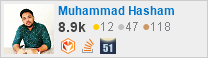 profile for Muhammad Hasham on Stack Exchange, a network of free, community-driven Q&A sites