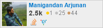 profile for Manigandan Arjunan on Stack Exchange, a network of free, community-driven Q&A sites