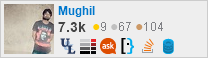 profile for mughil on Stack Exchange, a network of free, community-driven Q&A sites