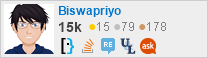 profile for Biswapriyo on Stack Exchange, a network of free, community-driven Q&A sites