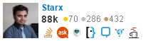 profile for Starx on Stack Exchange, a network of free, community-driven Q&A sites