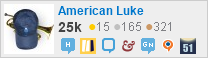 profile for American Luke on Stack Exchange, a network of free, community-driven Q&A sites