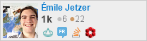 profile for Émile Jetzer on Stack Exchange, a network of free, community-driven Q&A sites