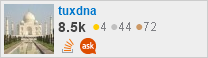 profile for tuxdna on Stack Exchange, a network of free, community-driven Q&A sites