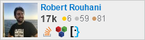 profile for Robert Rouhani on Stack Exchange, a network of free, community-driven Q&A sites
