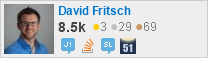 profile for David Fritsch on Stack Exchange, a network of free, community-driven Q&A sites