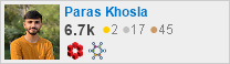 profile for Paras Khosla on Stack Exchange, a network of free, community-driven Q&A sites