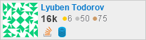 profile for Lyuben Todorov on Stack Exchange, a network of free, community-driven Q&A sites