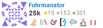 profile for Fuhrmanator on Stack Exchange, a network of free, community-driven Q&A sites