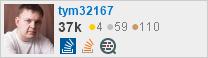 Профиль участника tym32167 в Stack Exchange, сети бесплатных сайтов вопросов и ответов, управляемых сообществом