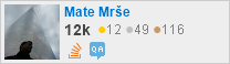 profile for Mate Mrše on Stack Exchange, a network of free, community-driven Q&A sites