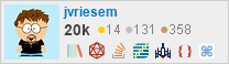 profile for jvriesem on Stack Exchange, a network of free, community-driven Q&A sites