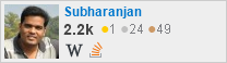 profile for Subharanjan on Stack Exchange, a network of free, community-driven Q&A sites