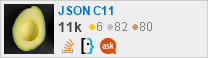 profile for JSON C11 on Stack Exchange, a network of free, community-driven Q&A sites