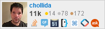 profile for chollida on Stack Exchange, a network of free, community-driven Q&A sites