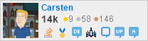 profile for Carsten on Stack Exchange, a network of free, community-driven Q&A sites