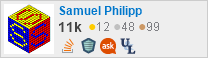 profile for Samuel Philipp on Stack Exchange, a network of free, community-driven Q&A sites