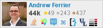 profile for Andrew Ferrier on Stack Exchange, a network of free, community-driven Q&A sites