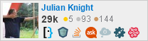 Profile for Julian Knight on Stack Exchange, a network of free, community-driven Q&A sites