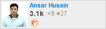 profile for Ansar Husain on Stack Exchange, a network of free, community-driven Q&A sites