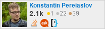 profile for Konstantin Pereiaslov on Stack Exchange,a network of free, community-driven Q&A sites