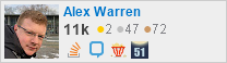 profile for Alex Warren on Stack Exchange,a network of free, community-driven Q&A sites