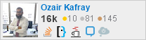 profile for Ozair Kafray on Stack Exchange, a network of free, community-driven Q&A sites