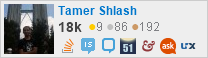 profile for Tamer Shlash on Stack Exchange, a network of free, community-driven Q&A sites