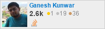 profile for Ganesh kunwar on Stack Exchange, a network of free, community-driven Q&A sites
