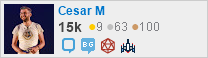 Network flair for Cesar M