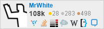 profile for MrWhite on Stack Exchange, a network of free, community-driven Q&A sites