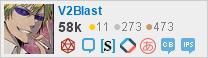 Network flair for V2Blast