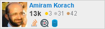 profile for Amiram Korach on Stack Exchange, a network of free, community-driven Q&A sites