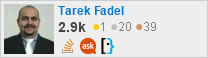 profile for Tarek Fadel on Stack Exchange, a network of free, community-driven Q&A sites