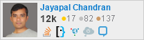 profile for Jayapal Chandran on Stack Exchange, a network of free, community-driven Q&A sites