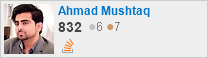 profile for Ahmad Mushtaq on Stack Exchange, a network of free, community-driven Q&A sites