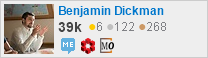 Profile for Benjamin Dickman on Stack Exchange: MESE, MSE, and MO
