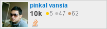 profile for pinkal vansia on Stack Exchange, a network of free, community-driven Q&A sites