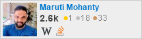 profile for Maruti Mohanty on Stack Exchange, a network of free, community-driven Q&A sites