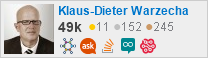profile for Klaus-Dieter Warzecha on Stack Exchange, a network of free, community-driven Q&A sites