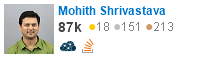 profile for Mohith Shrivastava on Stack Exchange, a network of free, community-driven Q&A sites