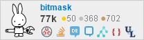profile for bitmask on Stack Exchange, a network of free, community-driven Q&A sites