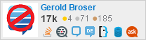Profile for Gerold Broser on Stack Exchange