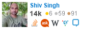 profile for Shiv Singh on Stack Exchange, a network of free, community-driven Q&A sites
