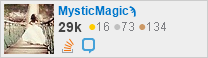 profile for Mystic Magic on Stack Exchange, a network of free, community-driven Q&A sites