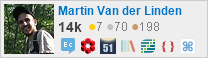profile for Martin Van der Linden on Stack Exchange, a network of free, community-driven Q&A sites