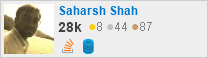 Profile for Saharsh Shah at Stack Overflow, Q&A for professional and enthusiast programmers