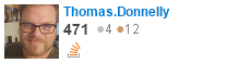 profile for Thomas.Donnelly on Stack Exchange, a network of free, community-driven Q&A sites