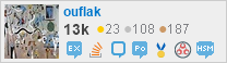 profile for ouflak at StackExchange, Q&Communities built by people passionate about a focused topic.