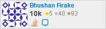 profile for Bhushan Firake on Stack Exchange, a network of free, community-driven Q&A sites